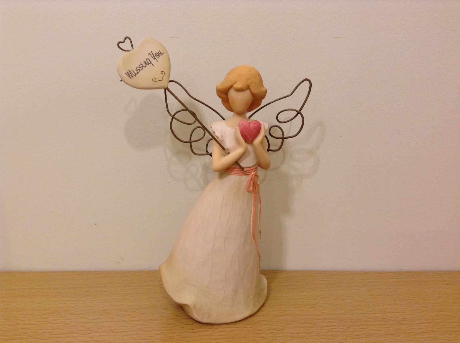 Seagull Heart Warmers Angels Missing You New In Box Resin Metal Wire