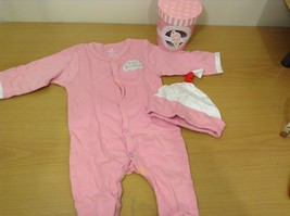 Baby Aspen Sweet Dreamzzz Pajama Gift Set Pink Girl Strawberry Matching Cap 0-6m
