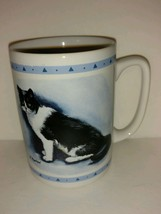 Bi-Color Cat Kitty Coffee Mug R Maystead - $22.76