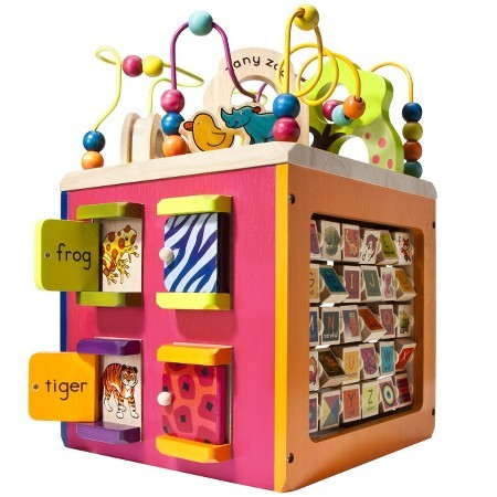 B. Zany Zoo Wooden Activity Cube Toys Christmas Children Animals Educational Fun