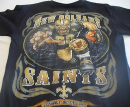 New Orl EAN S Saints Running Back T Shirt Black Shirt Nfl Team Apparel - $21.99