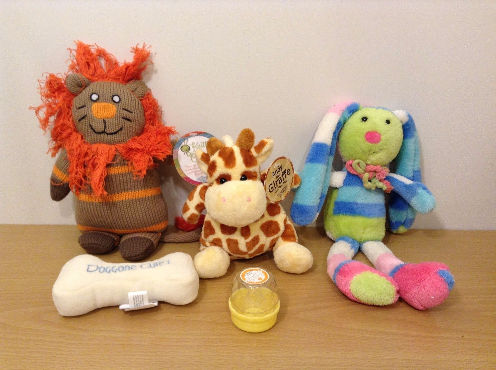 Stephan Baby Lot of 5 Pcs Soft Plush Toys Mini Medicine Bottle Giraffe Lion