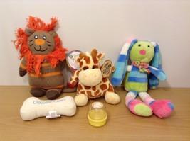 Stephan Baby Lot of 5 Pcs Soft Plush Toys Mini Medicine Bottle Giraffe Lion image 1
