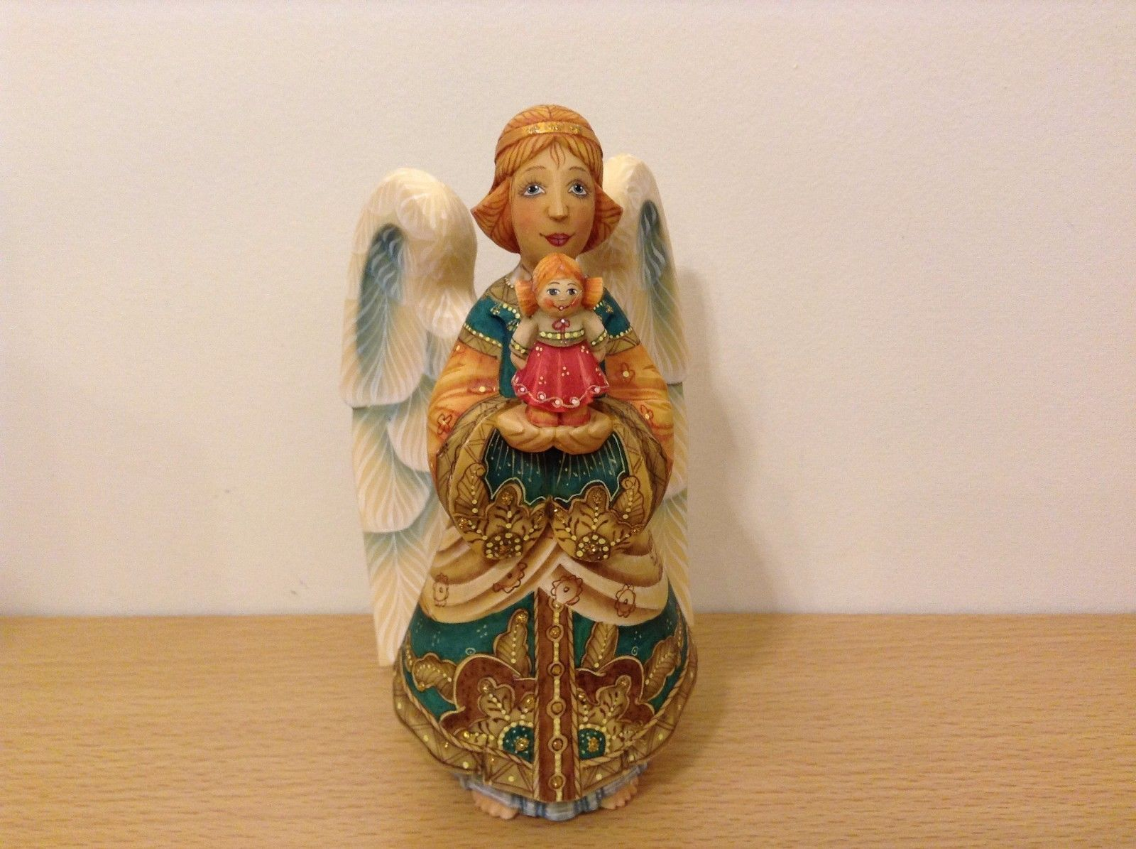 G. DeBrekht Derevo Collection The Gift Angel With Dolly Figurine Limited Edition