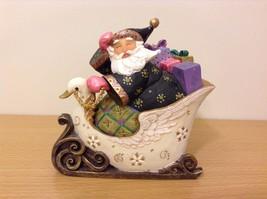 Seagull Studios Christmas Sleigh Santa Secret Box Hand Painted Used