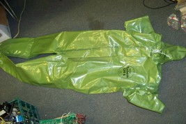 new dupont tychem cpf 4 zip front coverall with attached hood size large - $38.60