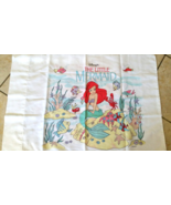 Vintage The Little Mermaid Disney Pillow Case - $12.99