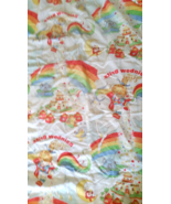 Vintage Rainbow Bright White Fitted Bed Sheet T... - $23.00