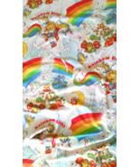 Vintage Rainbow Bright White Flat Bed Sheet Twi... - $23.00
