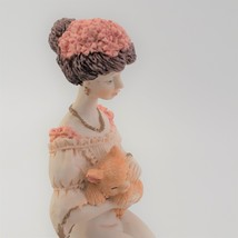 Marlo Collection by Artmark Figurine of Victorian Lady Holding a Yellow Cat image 7