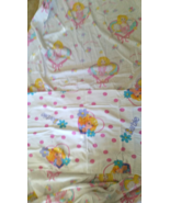 Vintage Barbie White Fitted Bed Sheet Twin size... - $29.99