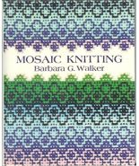 Mosaic Knitting BG Walker Pattern Charts Photos Knit Poncho Sweater 1976 HC - $19.93