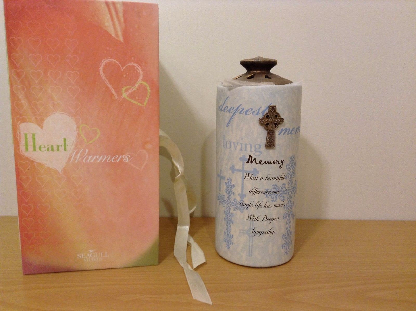 New Seagull Studios Heart Warmers In Loving Memory Large Candle Candleholder