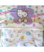 Vintage Hello Kitty White Fitted Bed Sheet Twin... - $29.99