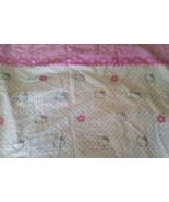 Vintage Hello Kitty White Flat Bed Sheet Twin size  - $23.00