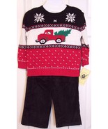 NWT Good Lad Boy's 3 Pc Holiday Sweater & Cords... - $15.99