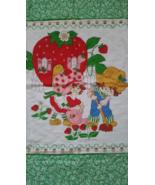 Vintage Strawberry Shortcake Baby Quilt Blanket... - $34.99