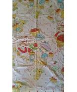 Vintage Strawberry Shortcake Sheet Baby Quilt Blanket Rare  - $23.00