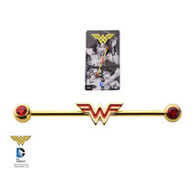 DC Comics Wonder Woman Gold Plate Industrial Barbell Piercing - $10.94