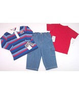 NWT Boyz by Nannette 3 Pc. Boy's Play Outfit, 2... - $9.99