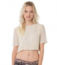 O'Neill WHISPER Womens 100% Polyester Beaded Crop Top Size Small Beige N... - $69.50