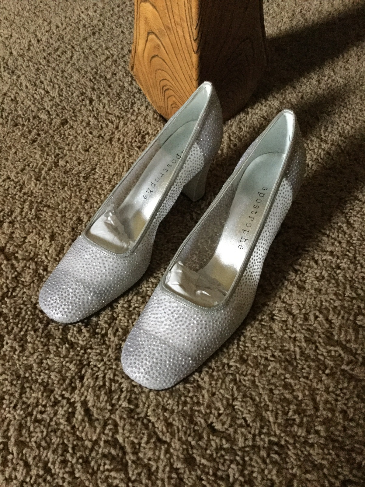 Silver Crystalized Women's Wedding Winter Pumps Worn Once ...
