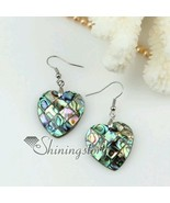Natural Abalone Shell Dangle Earrings Charm European Fashion Jewelry Hea... - $9.99