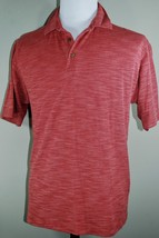 Tommy Bahama Polo Shirt - Men's Size M - Short Sleeve - Red Textured 100% Cotton - $29.60