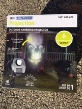 BRAND NEW! LED light show projection skulls  halloween yard decoration l... - $29.99