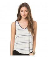 O'Neill AERON Womens 100% Viscose Sleeveless Tank Top Small Off White NE... - $46.74 CAD