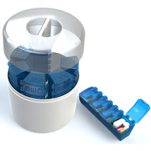 Pill Organizer, 7 Day, 4 compartment, Weekly Pill Planner, Pill Box - $18.95