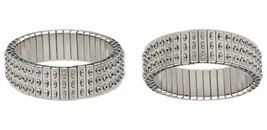 2 Stainless Steel CHA-CHA ~STRETCH Expansion Bracelets ~ 3 Rows of Loops... - $11.23