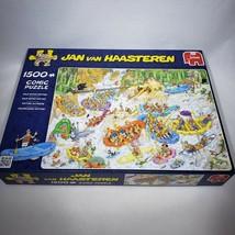 Jan van Haasteren Wild Water Rafting Comic 1500 Piece Jigsaw Puzzle Miss... - $25.00