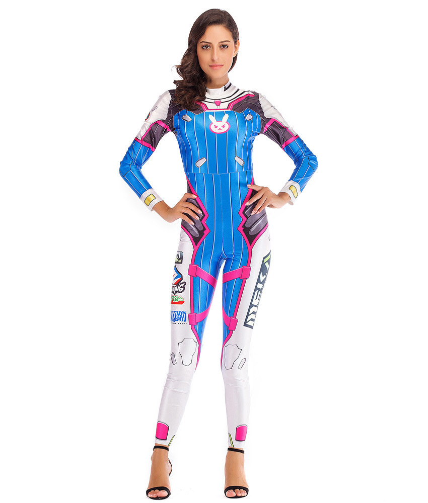 D.Va Cosplay Halloween Costume Jumpsuit - Jumpsuits & Rompers