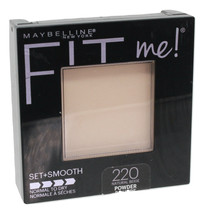 Maybelline New York Fit Me Set+Smooth Natural Beige Pressed Powder 0.3oz Compact - $12.85