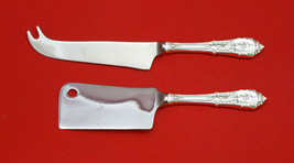 Rose Point by Wallace Sterling Silver Cheese Server Serving Set 2pc HHWS  Custom - $129.00