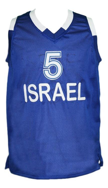 Custom team israel basketball jersey blue   1