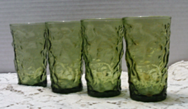 Vintage Lido Milano Green Juice Glasses Anchor ... - $12.00
