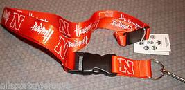 Ncaa Nwt Keychain Lanyard Nebraska Corn Huskers Red N Logo & Slanted Team Name - $6.95