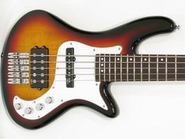 Schecter Stiletto Vintage-5 Five-String Electric Bass Guitar Sunburst - $449.00