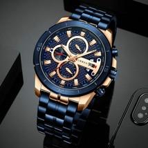 CURREN Business Men Watch Luxury Brand Stainless Steel Wrist Watch Chronograph - $31.77+