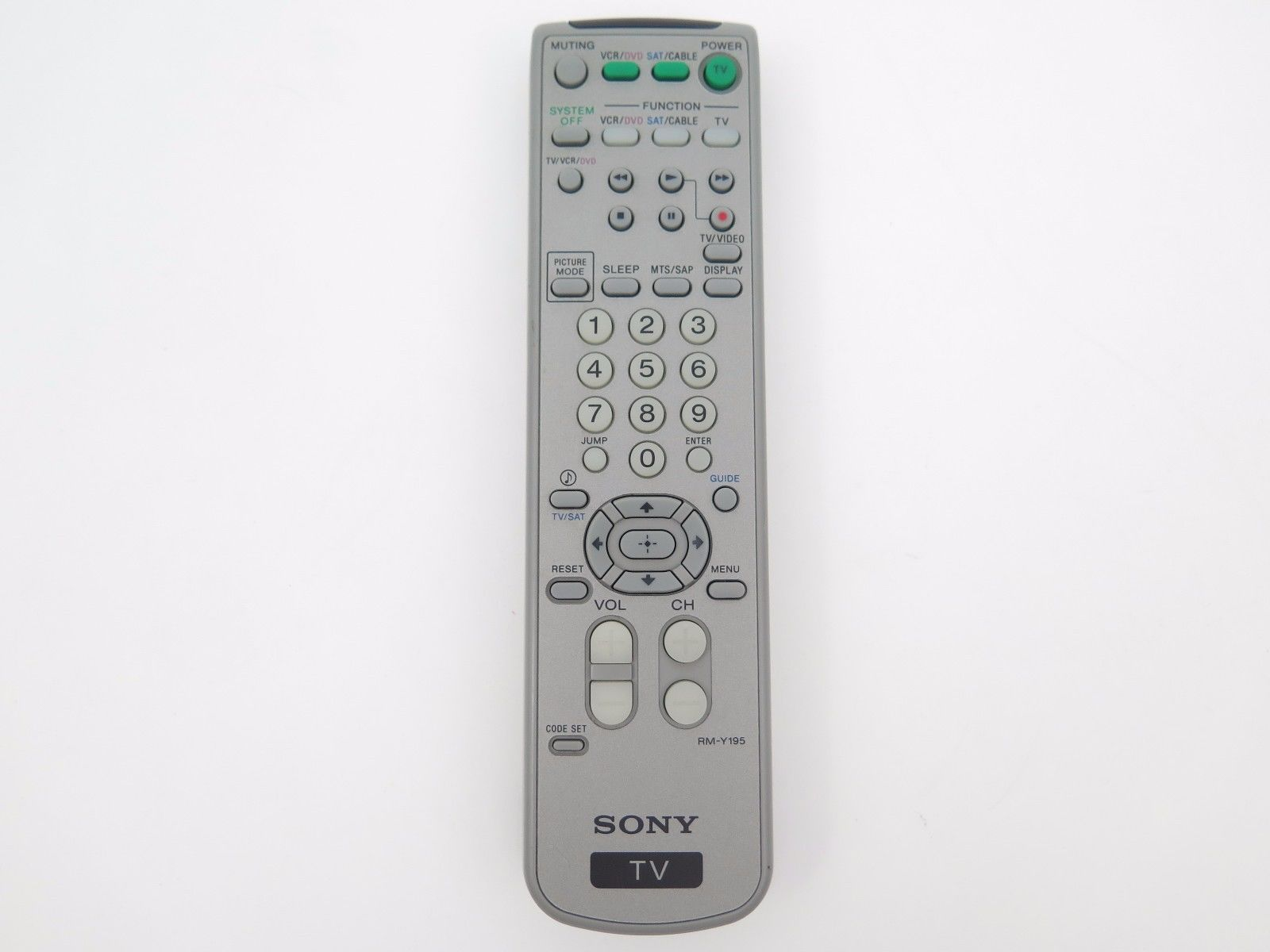 Original Sony RM-YD007 For RM-YD001 RM-Y180 RM-Y195 TV Remote TESTED