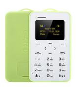 "aeku c6 card mobile phone green 4.8mm ultra thin pocket slim 0.96"" qwert... - $24.99"