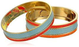 "Ted Rossi ""Resort"" Medium Lizard and Python and Mix Metal Bangle Bracelets  - $139.95"