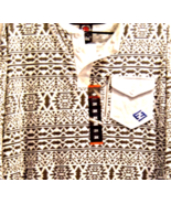 New Enyce Mens Shirt 2X Cotton Knit Gray and Wh... - $24.99