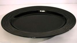 "Lenox Spyro Black Oval Serving Platter 16"" Retail $100 New - $38.90"
