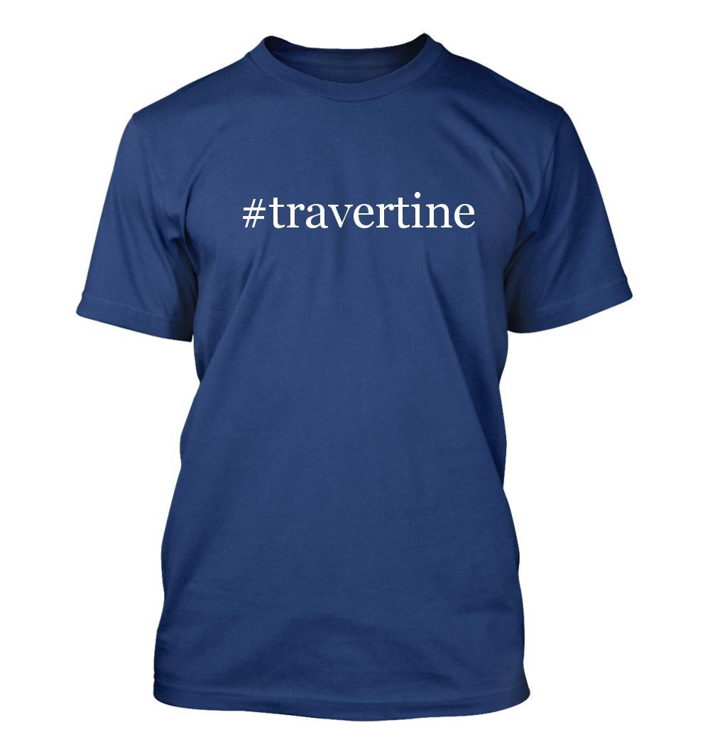 #travertine - Hashtag Men's Adult Short Sleeve T-Shirt