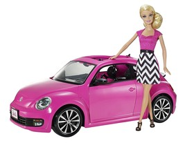 Barbie Pink-Tastic Volkswagen Beetle and Doll 2-Pc Playset Collectible G... - $83.65