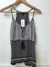 Forever 21 Women's Black & White multi print tank top NWT Size S sleeveless - $16.95