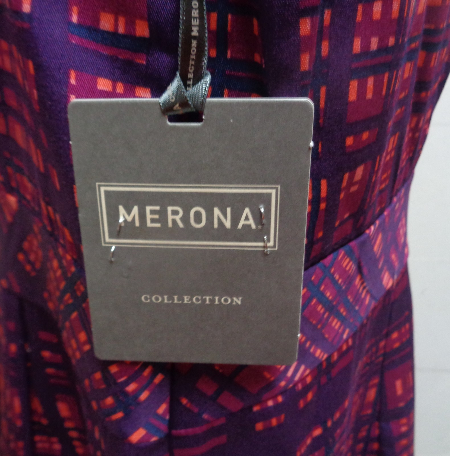 Merona Geometrical Dress Summer Casual Multi-Color NWT SZ 16